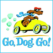 go dog go book colouring pages