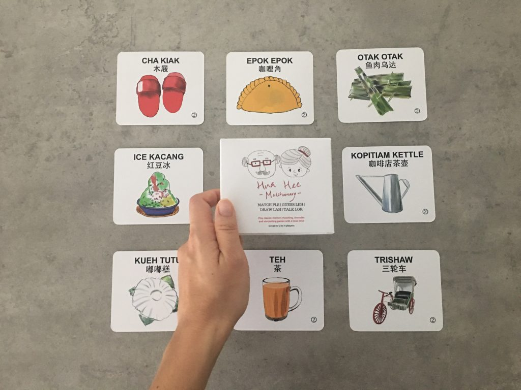 Play classic memory matching, charades and storytelling games with a local twist. 26 beautifully sketched local designs such as the Kueh Tutu, Clogs and Tingkat in four different game plays.