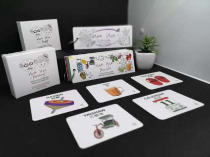 Hua Hee Family pack comprises all our signature games for seniors - from memory matching, story telling, charades, puzzles to colouring!