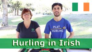 hurling in irish seachtain na gaeilge