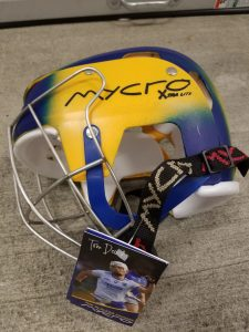 Hurling Helmet Mycro Yellow & Blue Faded