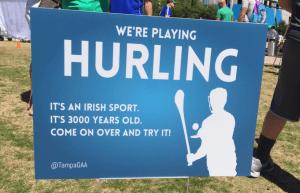 Tampa Bay Hurling Club sign