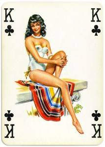 Pinup cards by Piatnik Baby Dolls from 1956 – King of clubs