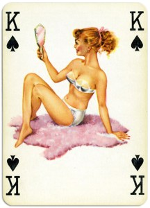 Pinup cards by Piatnik Baby Dolls from 1956 – King of spades