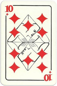 10 of diamonds Modernist artistic style cards from Russia