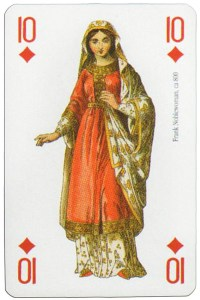 10 of diamonds Modiano deck Middle Ages