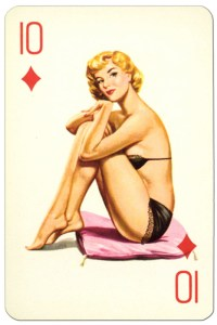 10 of diamonds Van Genechten Glamour Girls pinup cards
