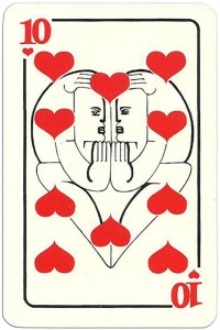 10 of hearts Modernist artistic style cards from Russia