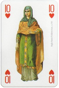 #PlayingCardsTop1000 – 10 of hearts Modiano deck Middle Ages