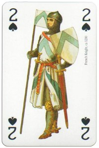 2 of spades Modiano deck Middle Ages