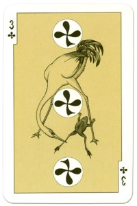 3 of clubs dark power Russian fairy tale cards