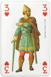 3 of hearts Modiano deck Middle Ages