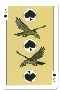 3 of spades dark power Russian fairy tale cards