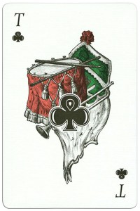 300 years Poltava battle Ace of clubs