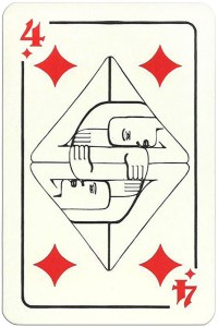 4 of diamonds Modernist artistic style cards from Russia