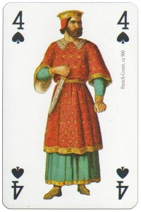 4 of spades Modiano deck Middle Ages