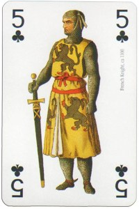 5 of clubs Modiano deck Middle Ages