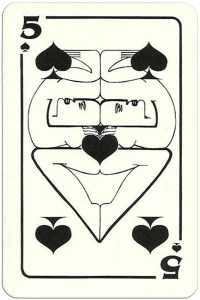 5 of spades Modernist artistic style cards from Russia