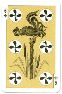 #PlayingCardsTop1000 – 6 of clubs dark power Russian fairy tale cards
