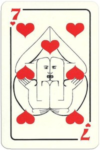 7 of hearts Modernist artistic style cards from Russia