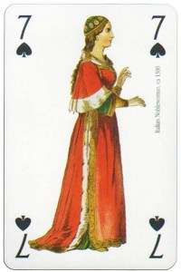 7 of spades Modiano deck Middle Ages