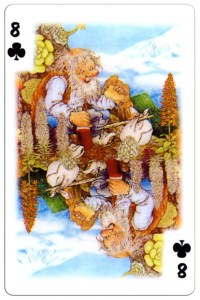 8 of clubs Trolls cartoons playing cards by Rolf Lidberg