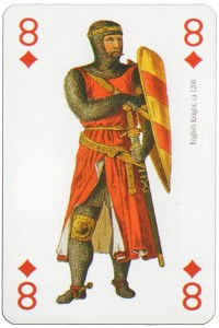 8 of diamonds Modiano deck Middle Ages