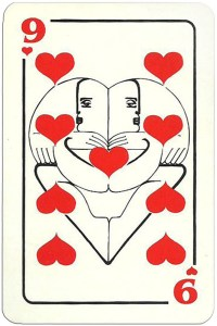 9 of hearts Modernist artistic style cards from Russia