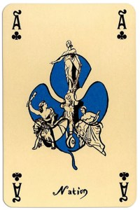 Ace of clubs Correspondances deck designed by Callazzo