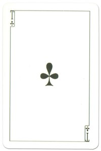 #PlayingCardsTop1000 – Ace of clubs Dead Souls by artist Boklevsky
