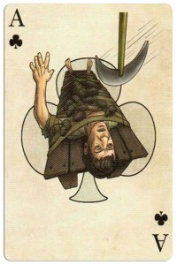 Ace of clubs Edgar Allan Poe deck of playing cards by Bicycle