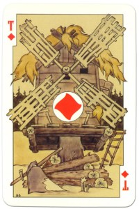 #PlayingCardsTop1000 – Ace of diamonds dark power Russian fairy tale cards