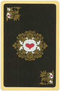 #PlayingCardsTop1000 – Ace of hearts Chernyi Paleh Russian style black cards