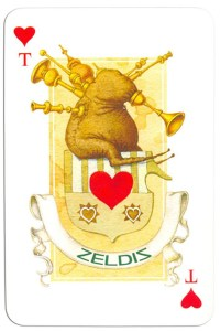 #PlayingCardsTop1000 – Ace of hearts Contemprary art cards made for Zeldis