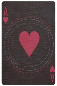 #PlayingCardsTop1000 – Ace of hearts card from Inferno by Gustave Dore deck Bycycle