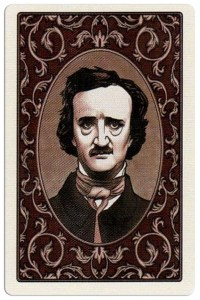 Back Edgar Allan Poe deck of playing cards by Bicycle