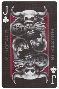#PlayingCardsTop1000 – Jack of clubs card from Inferno by Gustave Dore deck Bycycle