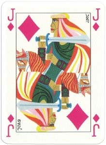 Queen of diamonds Jacobs Bible Cards from Israel Bath Sheba