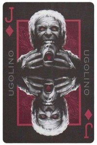 Jack of diamonds card from Inferno by Gustave Dore deck Bycycle