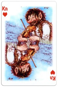 Jack of hearts Trolls cartoons playing cards by Rolf Lidberg