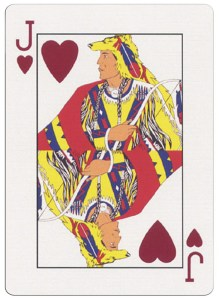 Jack of hearts deck for indian casinos in the USA
