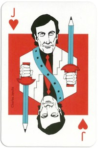 Jack of hearts from deck Play Architecture Finnish Building Centre Rakennustieto Oy