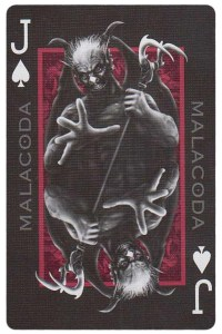 Jack of spades card from Inferno by Gustave Dore deck Bycycle