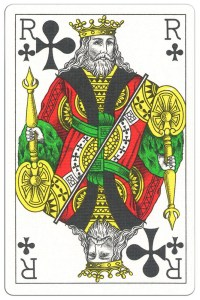 King of clubs Classic Belgian cards