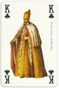 King of clubs Renaissance clothes card