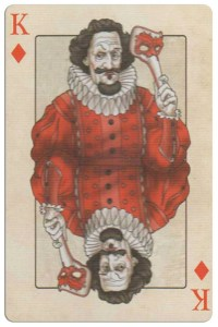 King of diamonds Edgar Allan Poe deck of playing cards by Bicycle