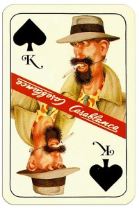 #PlayingCardsTop1000 – King of spades Casablanca tobacco brand cards