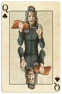 #PlayingCardsTop1000 – Queen of clubs Edgar Allan Poe deck of playing cards by Bicycle