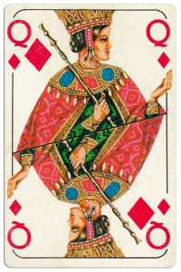 Queen of diamonds Bulgarian Dunav bridge cards