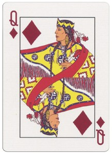 #PlayingCardsTop1000 – Queen of diamonds deck for indian casinos in the USA